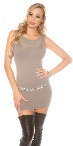 Sexy KouCla Strick-Minikleid mit Nieten