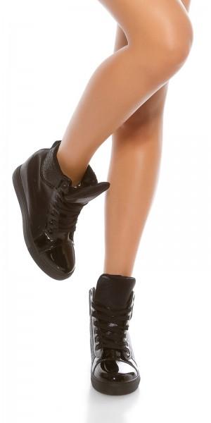 Trendy Keilabsatz Sneakers mit Gitter