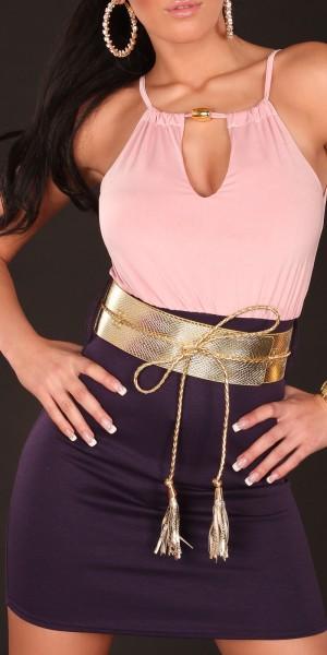 Sexy Trägerkleid mit Ausschnitt und Gürtel