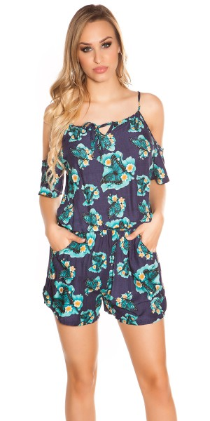 Sexy Coldshoulder Playsuit Butterfly Print