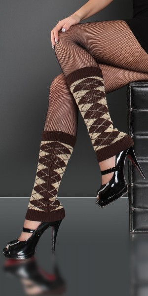 Sexy Beinstulpen mit Argyle-Muster