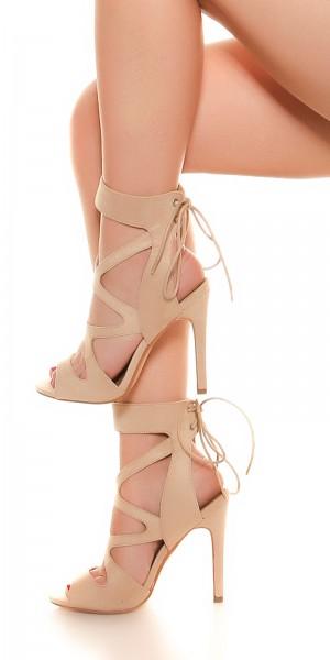 Sexy Cutout High Heel zum Schnüren