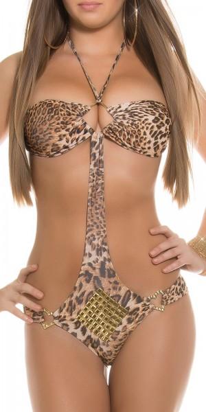 Sexy Neckholder-Monokini mit Nieten