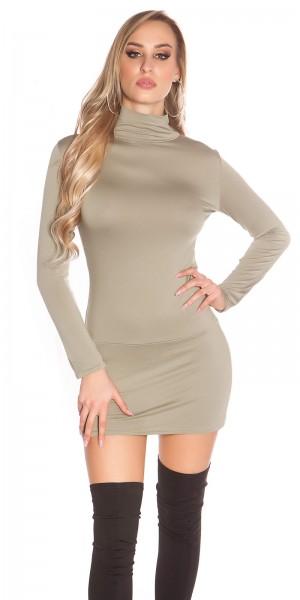 Sexy Minikleid, rückenfrei mit Rollkragen