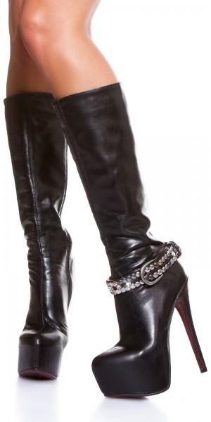 Sexy Schuhgürtel mit Strass und Nieten