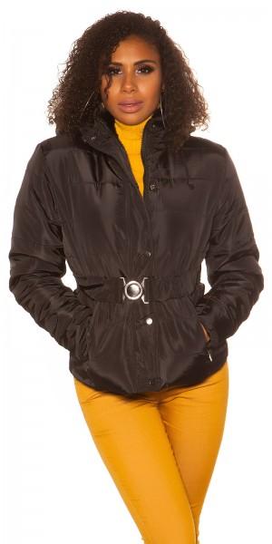 Trendy Winterjacke mit Gürtel