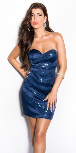 Sexy Bandeau Cocktail-Kleid mit Pailletten
