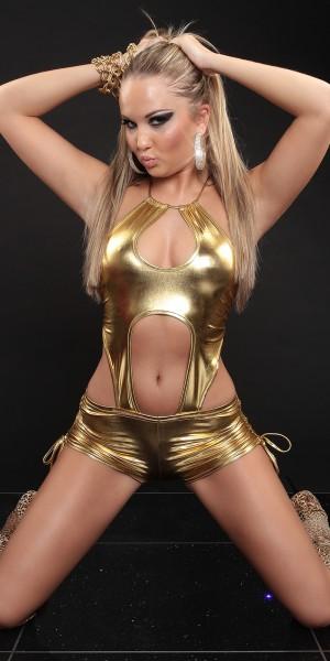 Sexy Neck-Gogo Overall
