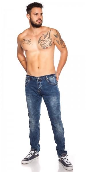 Trendy Männer Jeans Acid Washed