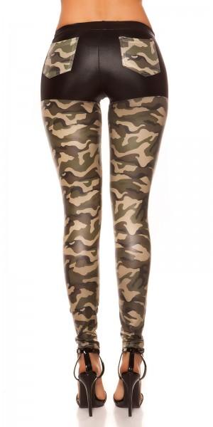 Sexy KouCla Glanz-Leggings mit taschen