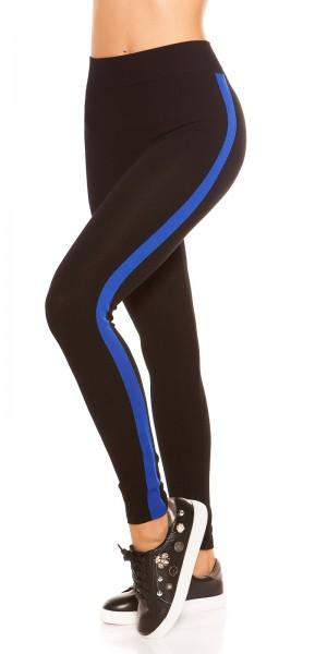 Trendy Leggings mit Kontraststreifen