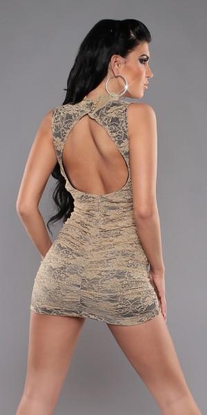 Sexy Spitzenminikleid mit Rückenausschnitt