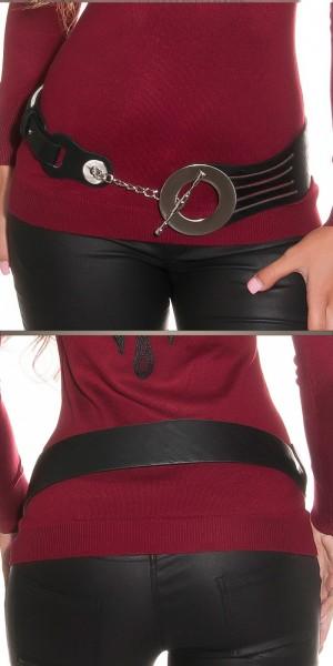 Sexy Hüftgürtel mit XL-Schnalle