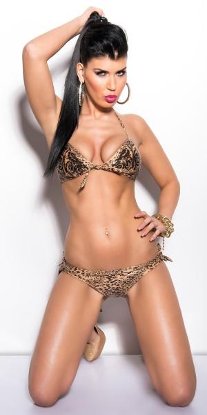 Sexy KouCla  Bikini mit Pailletten und Schleifen