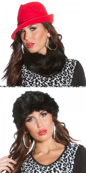 Trendy Fake Fur Stirnband/Loopschal, it s up 2u!