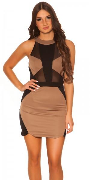 Sexy Koucla Kleid mit Netzeinsätzen