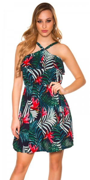 Sexy Minikleid Floral Muster