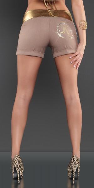 Sexy KouCla Hotpants mit Goldbund