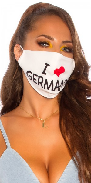 "5 Stück Alltags/Stoffmaske ""I love Germany"""